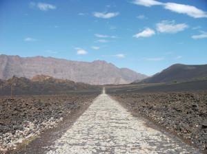Мощеная дорога по кальдере