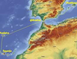 (октябрь) 2020г.: Переход с  острова Майорка на остров  Тенерифе